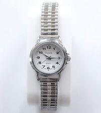 Damenuhr Quartz Uhr Flexband Zug Armband Damenarmbanduhr Edelstahl / Silber NEU