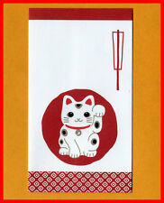 Japanese New Year Lucky Cat mini envelope 20pcs w sticker