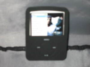 3G Nano iPod Black Skin Rubber Music Protect NEW!