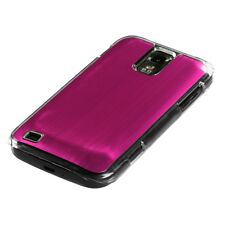 SAMSUNG GALAXY S2 T989 T-MOBILE BRUSHED ALUMINUM PLATE ACRYLIC CASE PINK COSMO