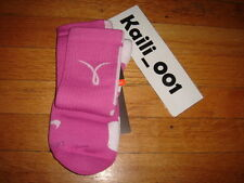 Nike Elite Socks L 8-12 Dri Fit Breast Cancer Volt Pro Compression B