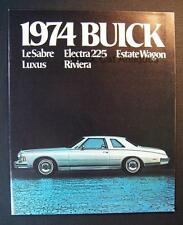 Original 1974 Buick LeSabre Electra 225 Estate Wgn Luxus Riviera Dealer Brochure