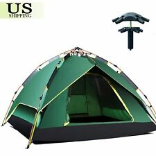 Waterproof Hydraulic Automatic Pop Up Camping Tent 3-4 Person Double Layer