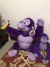 "Nanco Purple Ape w/Banana W/tag & Animal Alley Monkey ""Harley� Mascot Grape Ape"