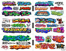 HO Scale Custom Graffiti Decals MEGA SHEET #7 -Weather Your  Box Cars, Hoppers