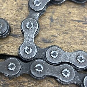Old School BMX Izumi Chain Slotted Pin Silver  108 Link Patina