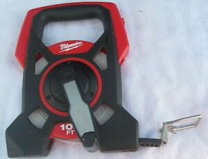 Used Milwaukee No.48-22-5201 100 Ft. Long Open Reel Tape Measure