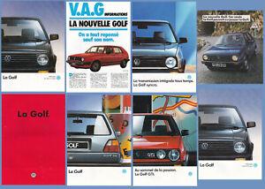 brochure LOT de 8 VOLKSWAGEN GOLF 2 !!! _ en français ____1983 - 1990 __________