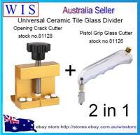 Ceramic Tile Glass Divider Breaking Side Clamp w Pistol Grip Glass Cutter-81128