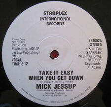 "MICK JESSUP - TAKE IT EASY WHEN YOU GET DOWN 1984 RARE BOOGIE FUNK PROMO 12"" NM"