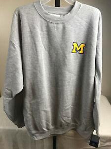 Starter Michigan Wolverines Embroidered Sweatshirt Adult Size 2XL 75%/25% NEW