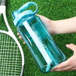 1/1.5/2L Portable Sports Water Bottles Plastic Bottle Leakproof Lonni Travel Cup