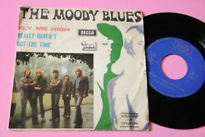 """MOODY BLUES 7"""" FLY ME HIGH ITALY ORIG 1970 PROMO EX"""