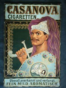 CASANOVA CIGARETTEN   altes Original Plakat - Reklame - Chromo- Lithographie