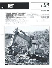 Equipment Brochure - Caterpillar - 219D LC - Excavator - c1989 (E4209)