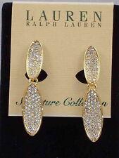 Ralph Lauren SIGNATURE COLLECTION Swarovski Pave Double Drop Clip Earrings $98
