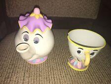 Vintage Disney Beauty and The Beast Mrs. Potts TEAPOT Plastic Eyes Open & Close