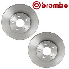 Pair Set of 2 Front Coated Disc Brake Rotors 303mm Brembo For Ford Mazda Mercury