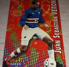 CARD CALCIATORI PANINI 1997 SAMPDORIA VERON CALCIO 97