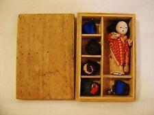 Antique c1881 Japanese Geisha Doll w 5 Human Hair Wigs in Orginal Box One Owner