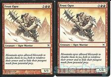 Magic the Gathering TCG BETRAYERS OF KAMIGAWA 2X Frost Ogre Ogre Warrior Red 102