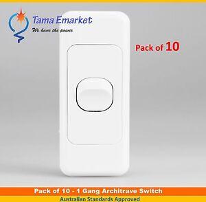 10 X 1 Gang 2 Way Architrave Switch - Single Slim Electrical Light Switch