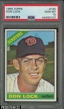 "1966 Topps #165 Don Lock Washington Senators PSA 10 GEM MINT "" HOT CARD """