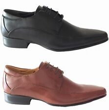 Composition Leather Lace-up Round Toe Formal Shoes for Men
