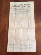 RARE 1879 Lynchburg VIRGINIA Tobacco BROADSIDE, Madison County, NORTH CAROLINA