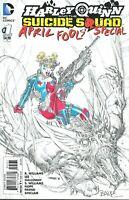 Harley Quinn #1 Jim Lee Sketch Variant Original Art Color by Jeff Balke NM DC