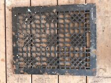 "Antique Cast Iron Victorian Floor Register Grate Vent 14"" By 17"" Large"