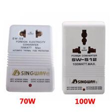 110V/120V to 220V/240V Step-Up & Down Voltage Converter 100W Transformer White
