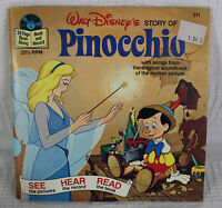 Pinocchio Walt Disney 33 1/3 Record and Book