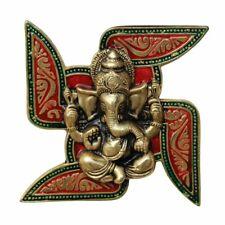 "Wall Hanging Ganesha Metal Religious Lord Figure Figurine New Year Home Decor 7"""