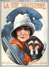 1926 La Vie Parisienne Mademoiselle French France Travel Advertisement Poster