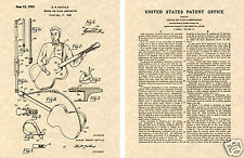 1st Guitar Strap Patent Art Print READY TO FRAME!!!! 1949 Sling