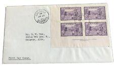 Canada FDC 1949 #283 Founding of Halifax LL PB No1 to Calgary Alberta