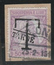 v291 Albanien/ Portomarken MiNr  5 o auf Briefstück