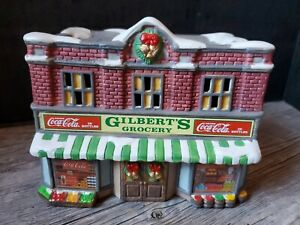 1992 COKE Coca-Cola Gilbert's Grocery Town Square Christmas Holiday Village