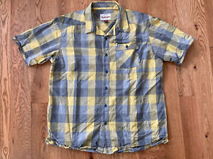 Simms Guide Series Short Sleeve Quick Dry Vented Fly Fish Shirt XL Yellow Euc