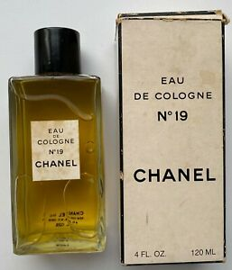 CHANEL NO 19 EAU DE COLOGNE 120 ML 4 fl oz RARE VINTAGE