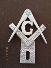 """freemasons,""""G"""" on compass and square,masonic license plate topper 4"""" high"""