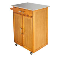 Kitchen Stand Island Cupboard Microwave Cart Cabinets Storage&Rolling Shelf