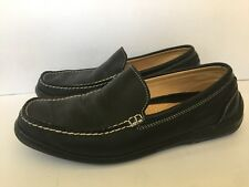 "TOMMY BAHAMA ""Marine Blvd"" Black Leather Venetian Driving Loafers Shoes Size 9.5"