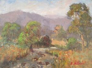 Original Oil Painting Australian Impressionist Artist Enoch Hlisic RIVER