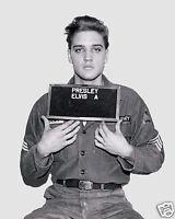 Elvis Presley 1960 Famous Army Mugshot 8 x 10 Photo