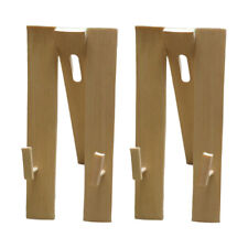 2Pcs Handheld Fan Display Stands Wooden Wedding Home Folding Fan Holder Base