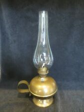 OLD FINGER OIL LAMP COMPLETE WITH CHIMNEY SHEPARDS HUT LAMP FARMHOUSE
