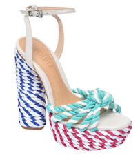 SCHUTZ x Adriana Lima Shulis Sandal Colorful Heels SIZE 8.5 MSRP $240