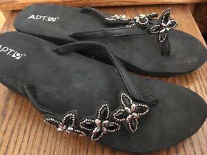 Apt.9 Metallic Thong Sandals Flip Flops Shoes size Medium 9-10
